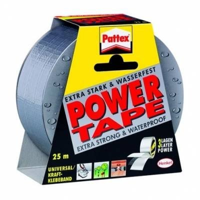 samolepicí páska Pattex Power tape 50mm x 25m stříbrná