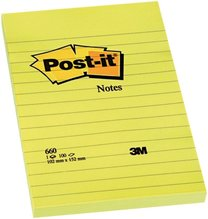 3M Post-it 660, 102x152mm, 100 lístků linka